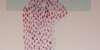 Composition XIX, collage, 50 x 70 cm
