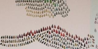 Composition IX, collage, 50 x 70 cm
