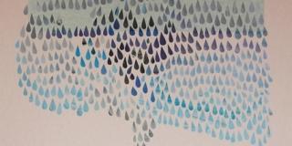 Composition IV, collage, 50 x 70 cm